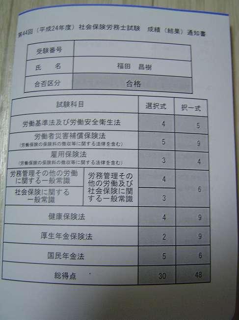 平成24年度 社会保険労務士試験
